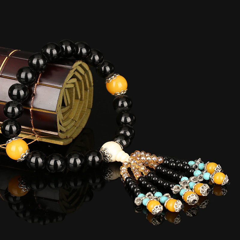 Buddhist Beads Mirror Charm for Lucky and Safe Driving
