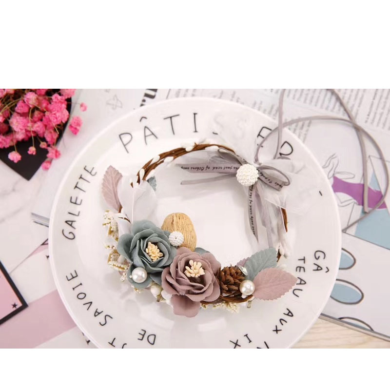 Immortal Flower Wreath Mirror Charm for Blooming Car s