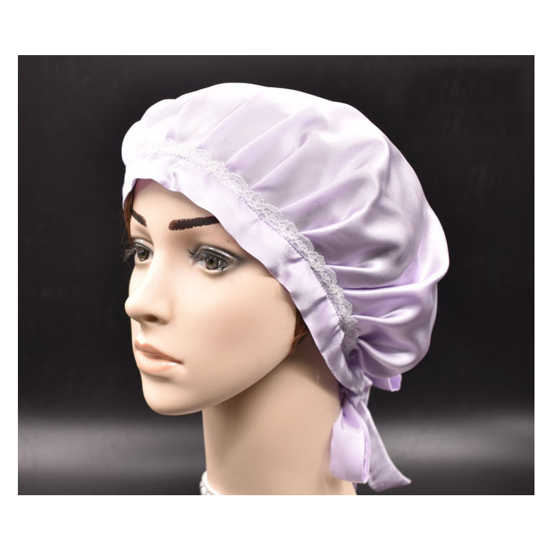 Exquisite Beguiling Lace Night Cap for Women's Haircare Protection