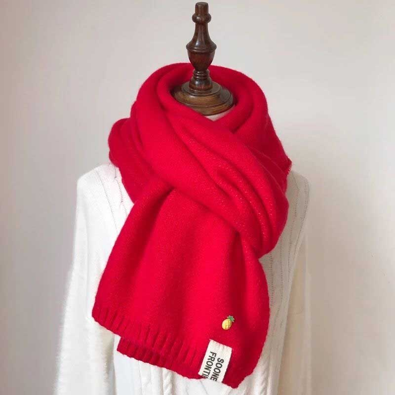Semi-Fringed Faux Cashmere Thick Scarves for Cold Season