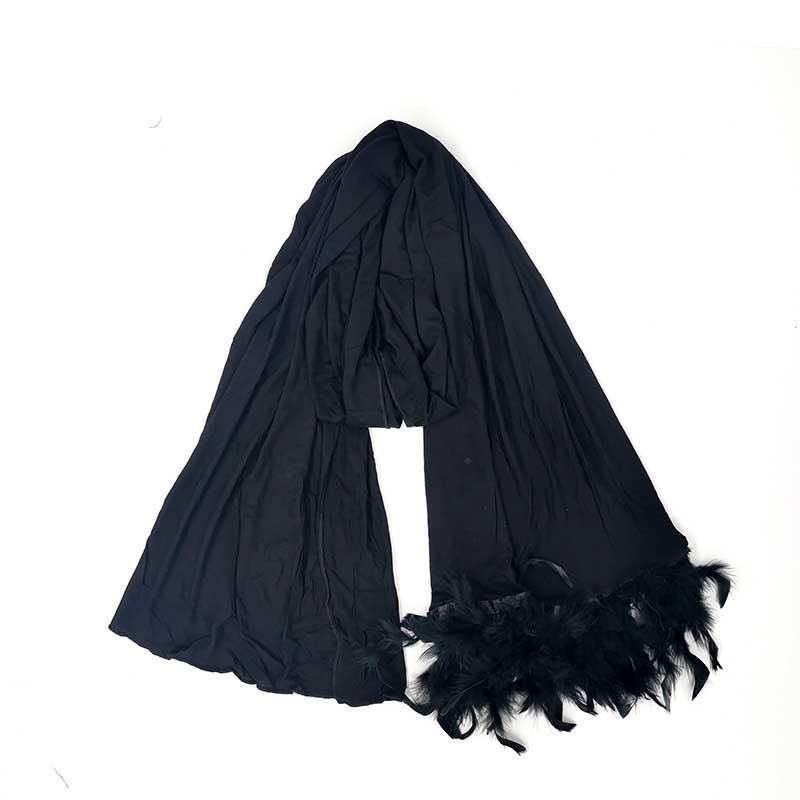 Comfortable Feather Ends Scarves for Breezy Days
