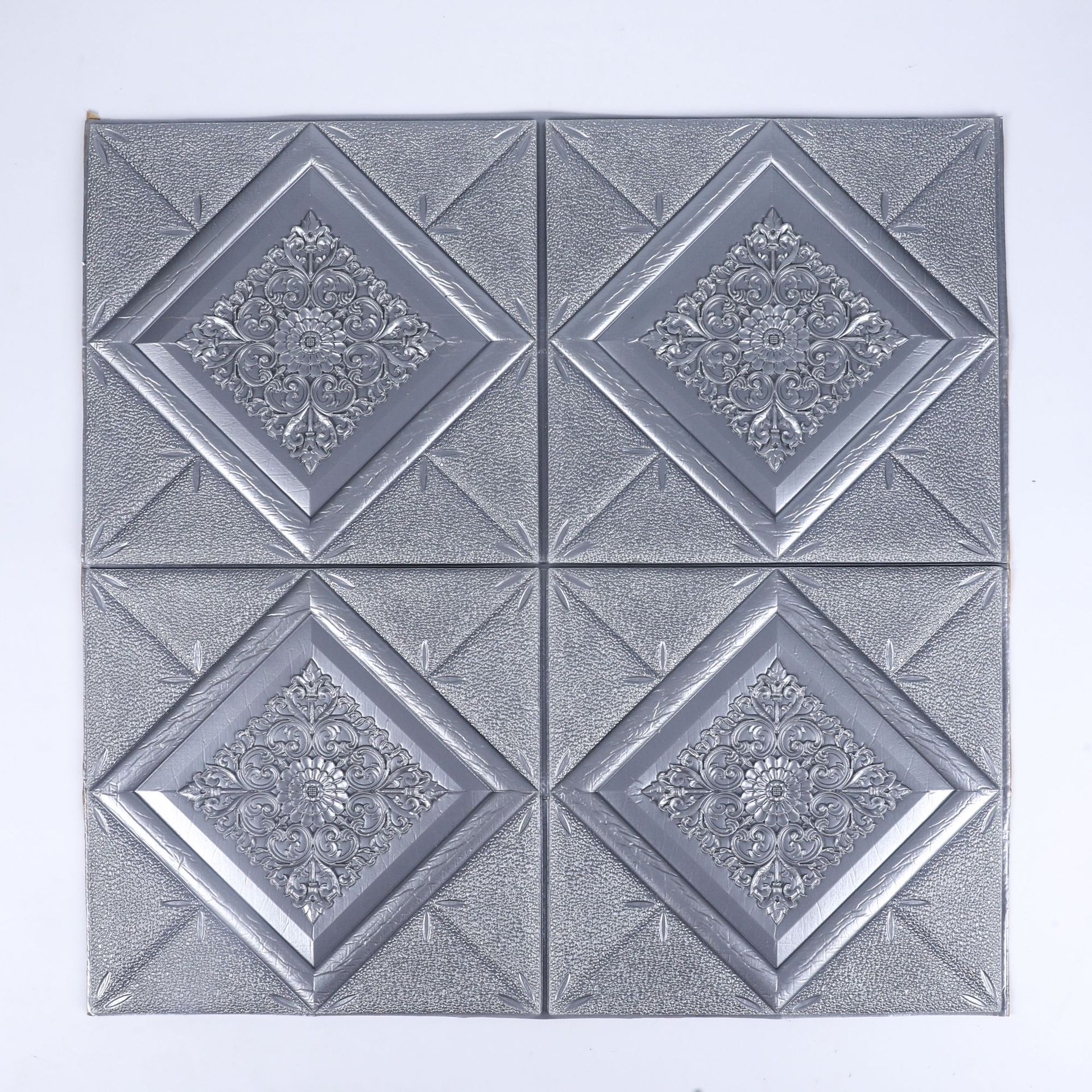 Adhesive Patterned Tile Sticker for Rental Rooms