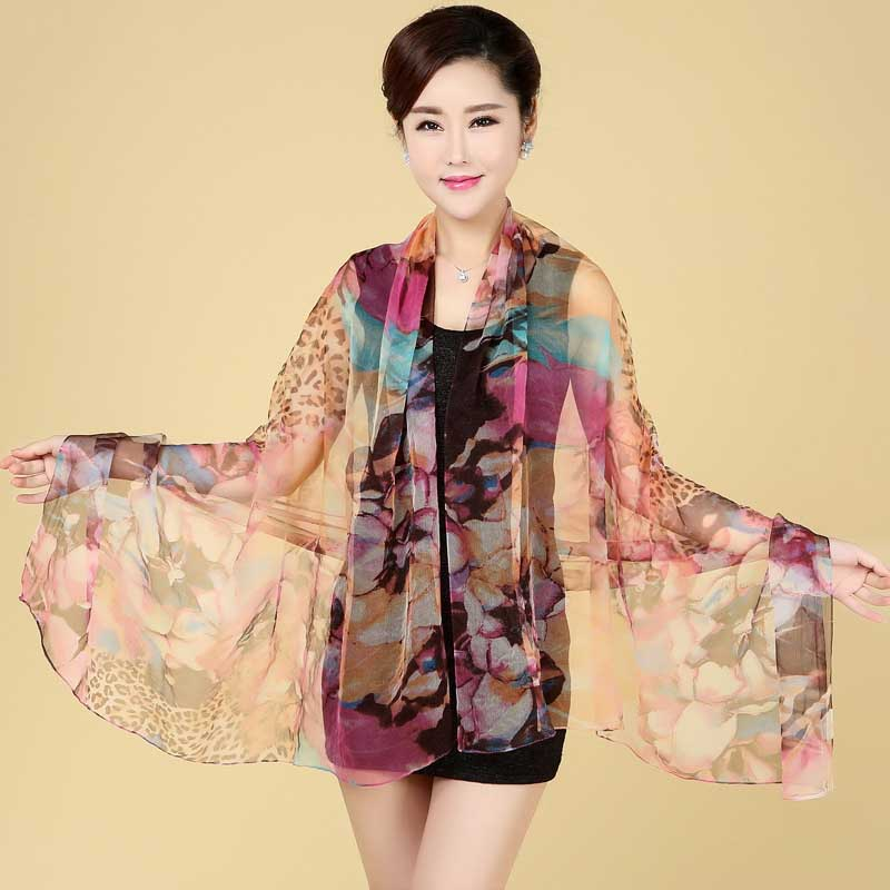 Fancy Silky Scarves for Stylish Middle-Aged Women