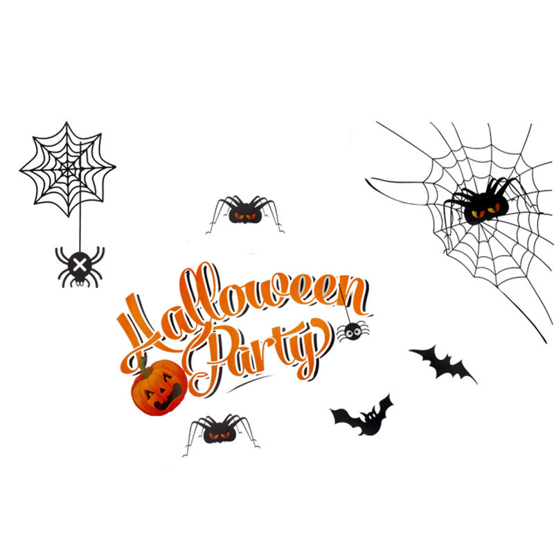 Unique Scary Glass Stickers for Halloween
