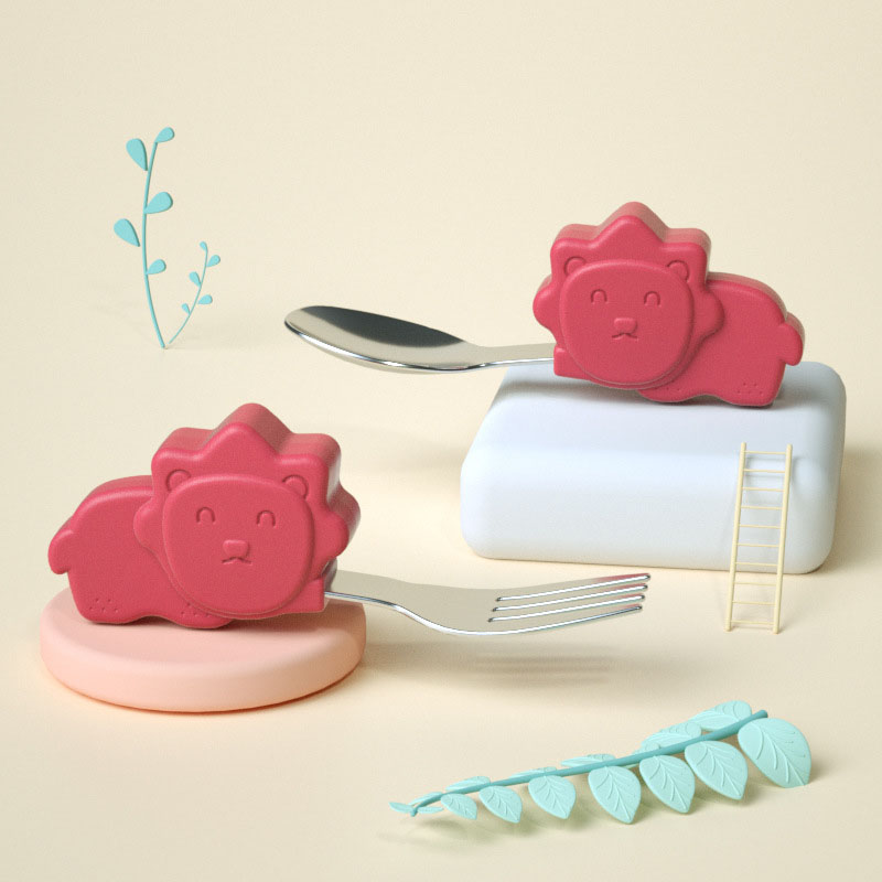 Silicone Animal Head Utensils for Babies
