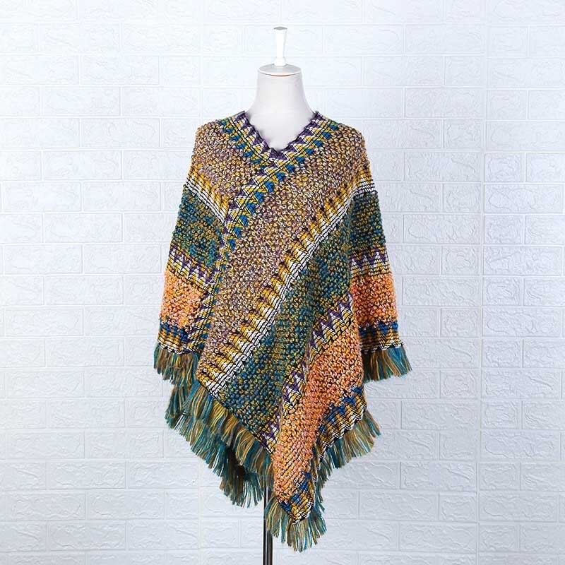 Knitted Tassel Scarf for Winter Season with Bohemian Fashion