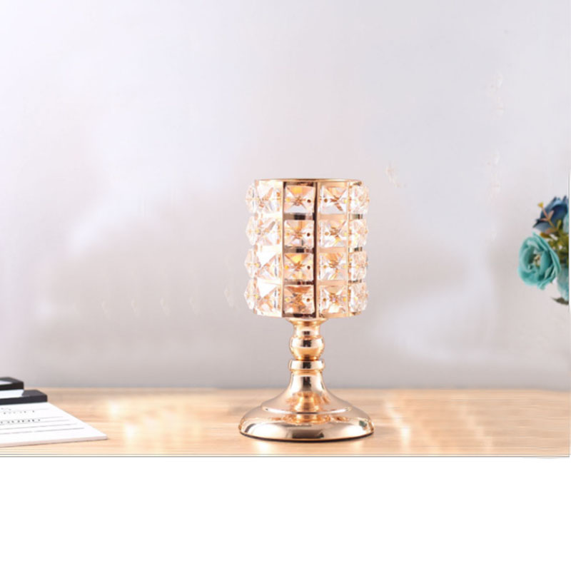 Glass Chalice Candle Stick for Elegant Tabletops