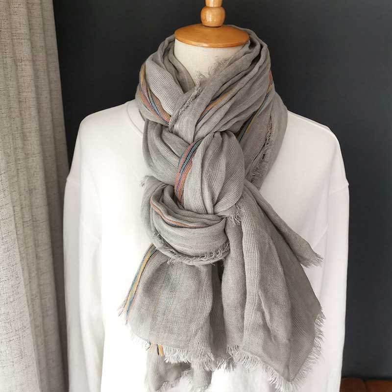 Ragged Fringed Scarves for Cold Season