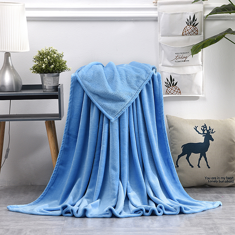 Luxurious Coral Fleece Flannel Blanket for Cold Protection