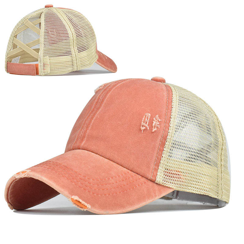 Ragged Stretchable Baseball Cap for Sun Protection