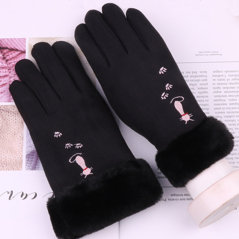 Thick and Warm Winter Gloves with Fur for Winter Season