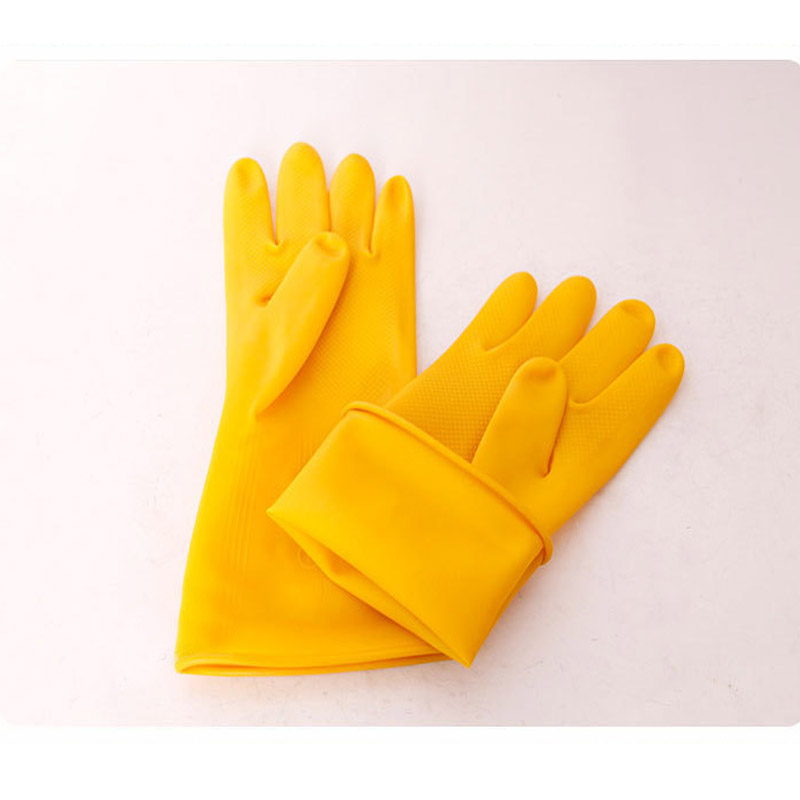 Thick and Comfortable Latex Gloves for Kitchen Cleaning