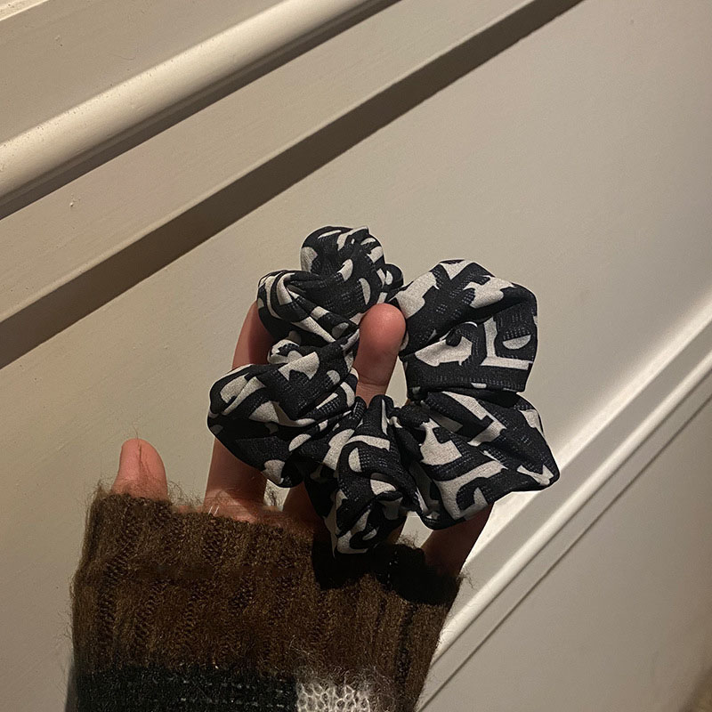 Modern Graphic Print Scrunchies for Statement Looks