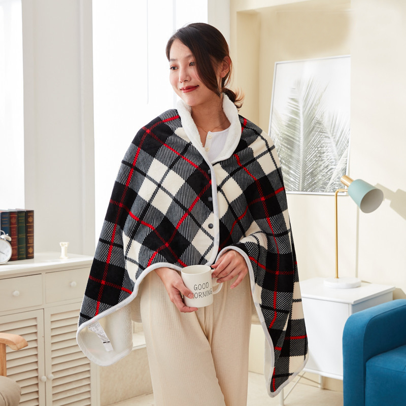 Multifunctional Buttoned Blanket for Staying Warm in Fashion