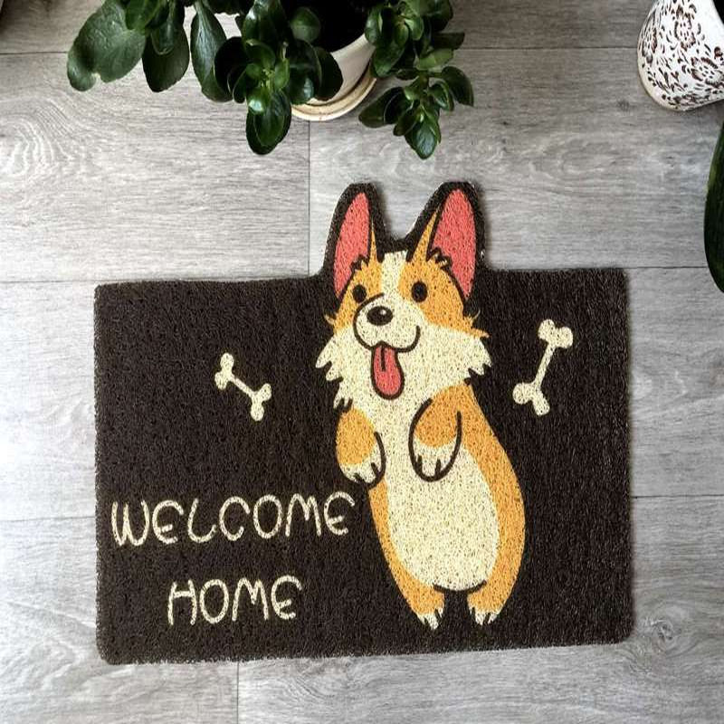 Charming Dogs and Cat Prints Floor Mat for Pet Lovers