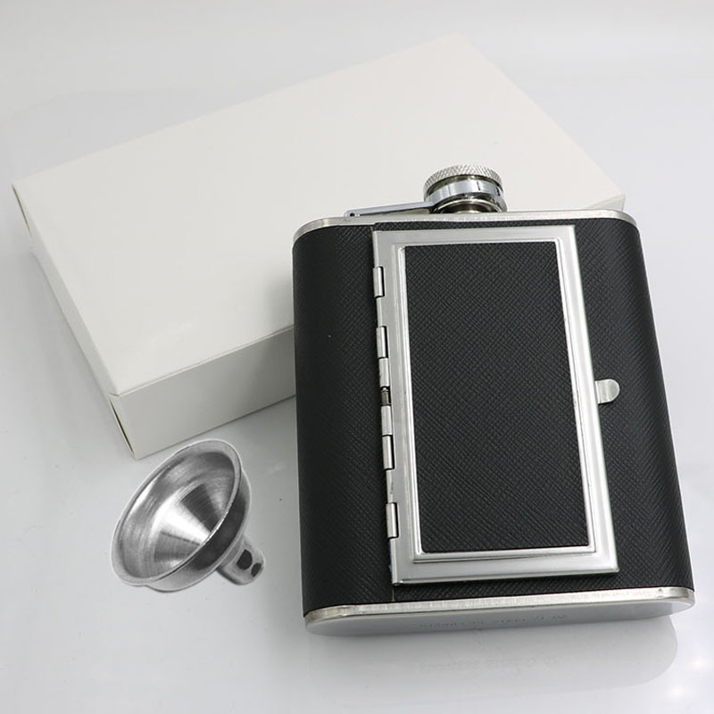 Dual Purpose Flask with Cigarette Holder for Your Favorite Liquor Drinks