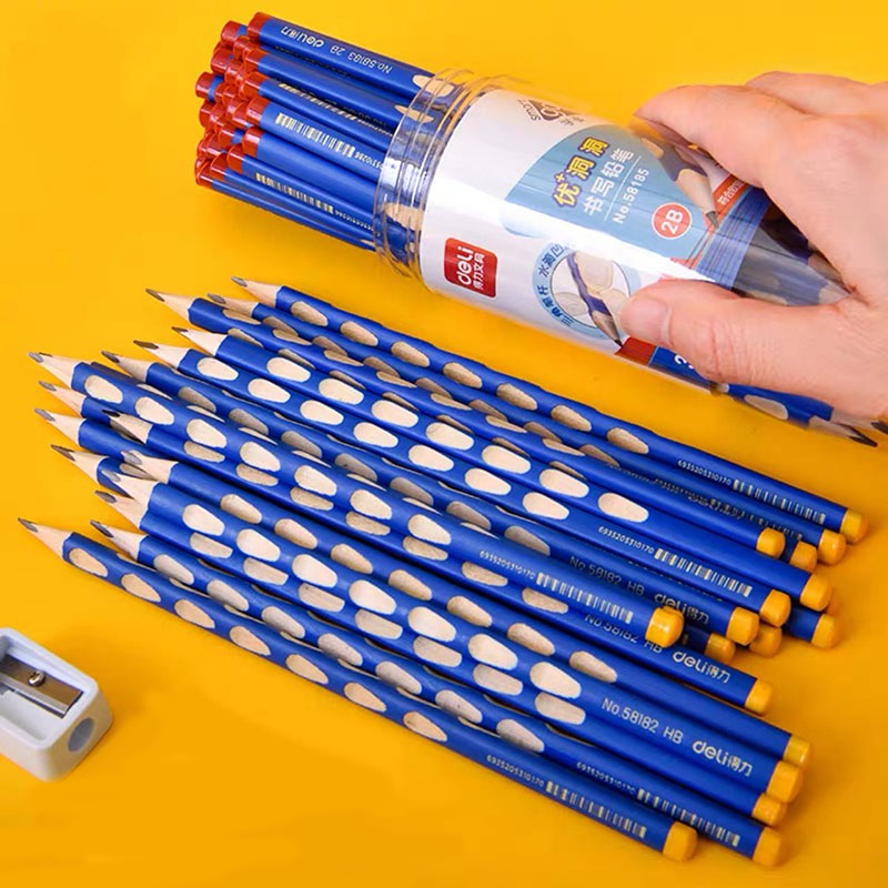 Triangular Writing Pencil with Holes for Grip Correction