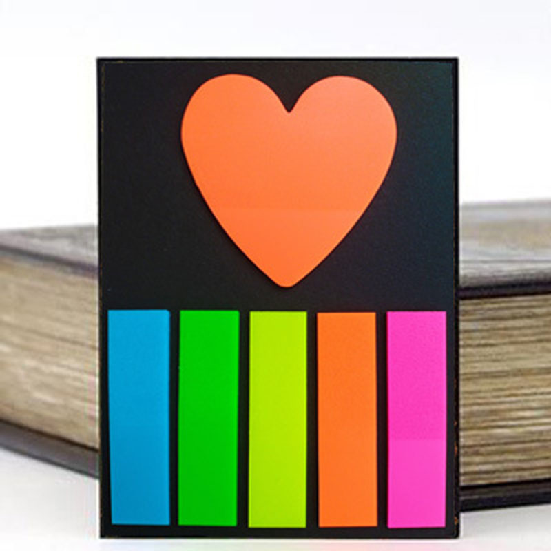 Mini Rainbow Colored Sticky Note for School and Office
