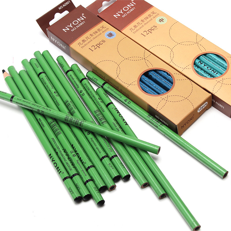 Thick 24pcs Charcoal Pen for Sketching