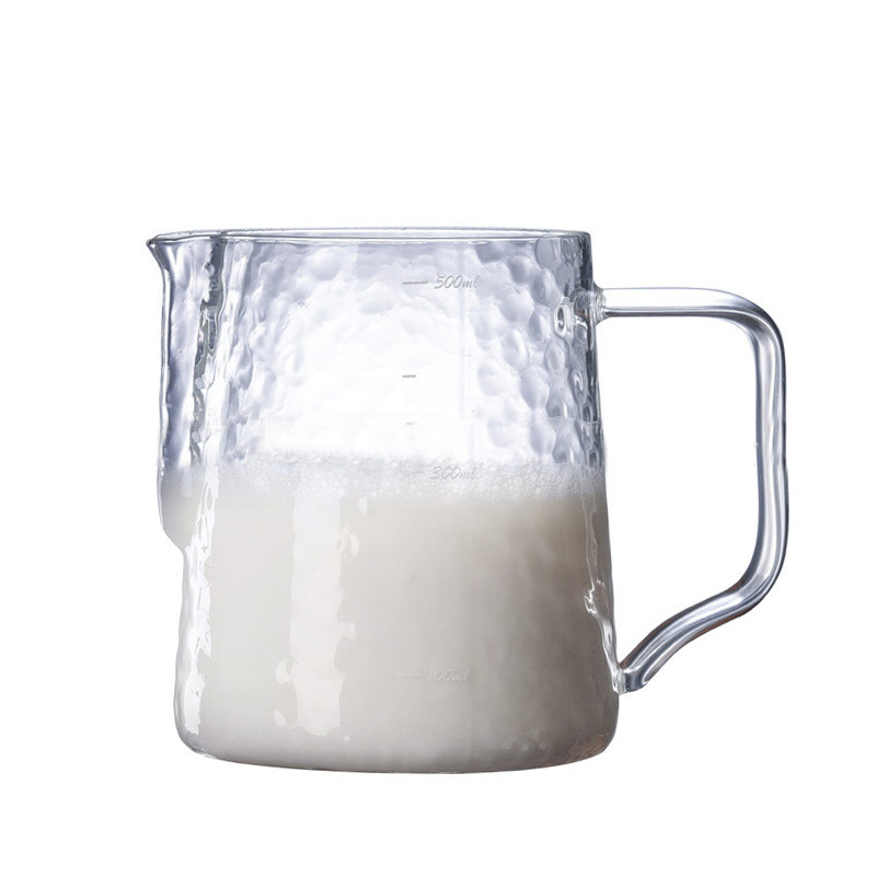 Glass Milk Frothing Jug for Brewed Coffee