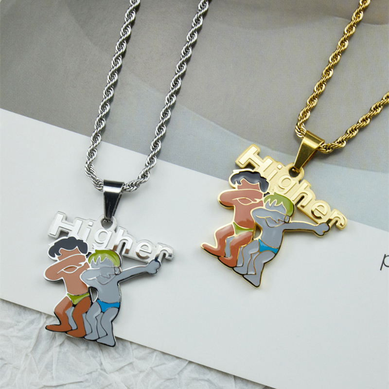Funny Dab Higher Necklace for Fun Friendships