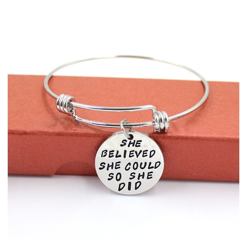 Adjustable Self-Affirmation Bangle for Grounding Yourself