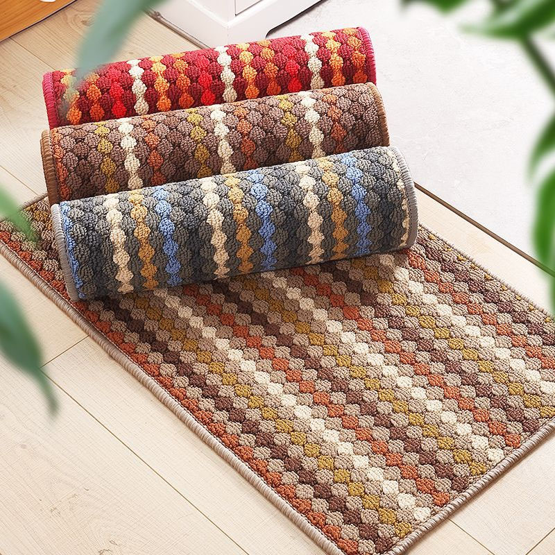 Absorbent Non-Slip Rhombus Pattern Mat for Home Entrance