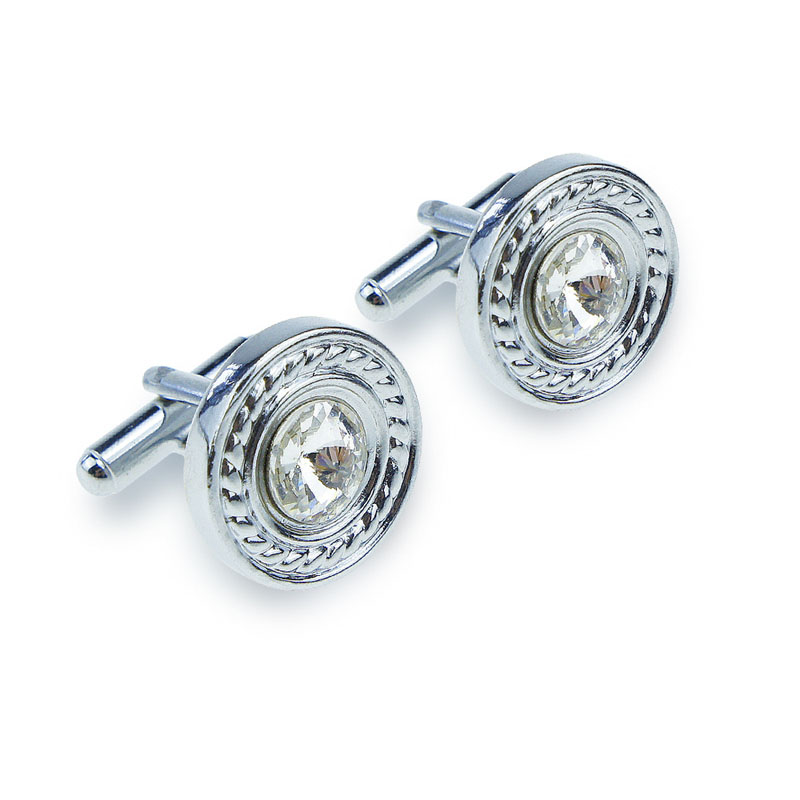 Ornate Circle Cufflinks for Coats and Blazers