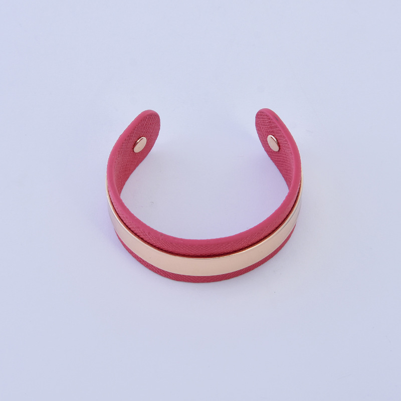 Modern Faux Leather Cuff Bracelet for Casual Wear