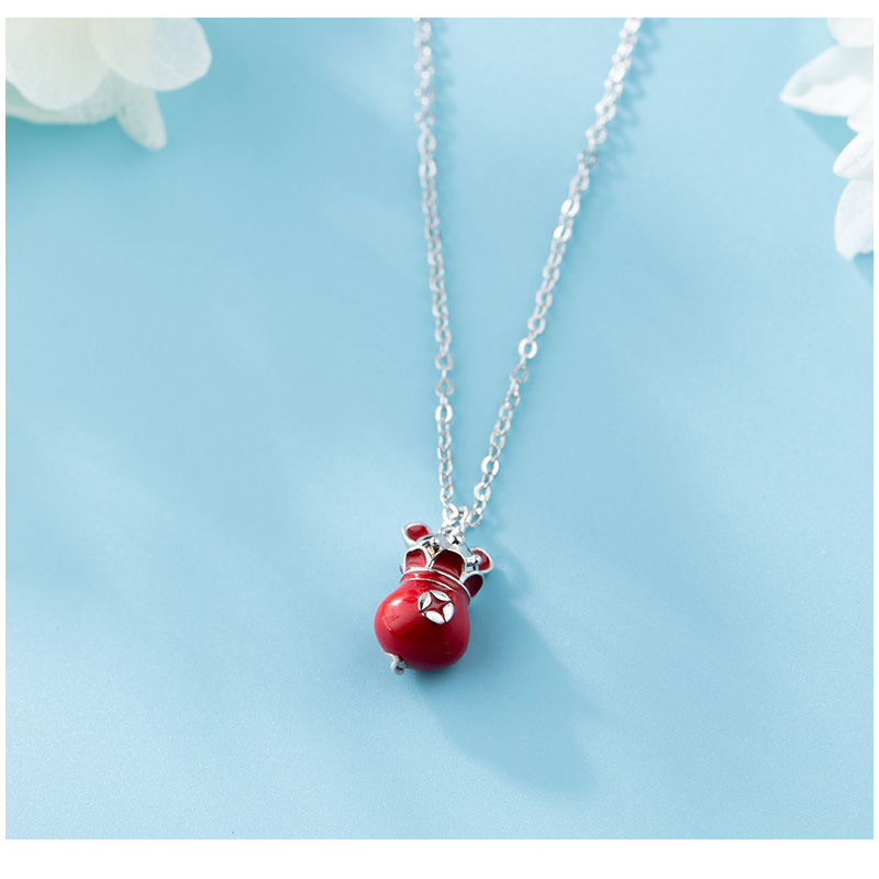 Tiny Mouse Money Bag Necklace for Attracting Income