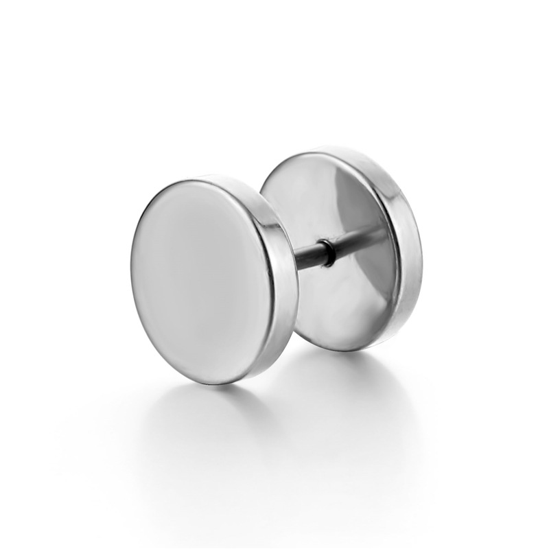 Cool Round Stud Earrings for Basic Accessories