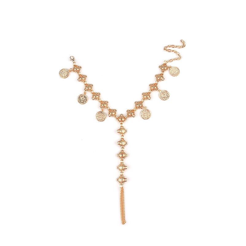 Glamorous Golden Foot Anklet for Amazing Beach Wear