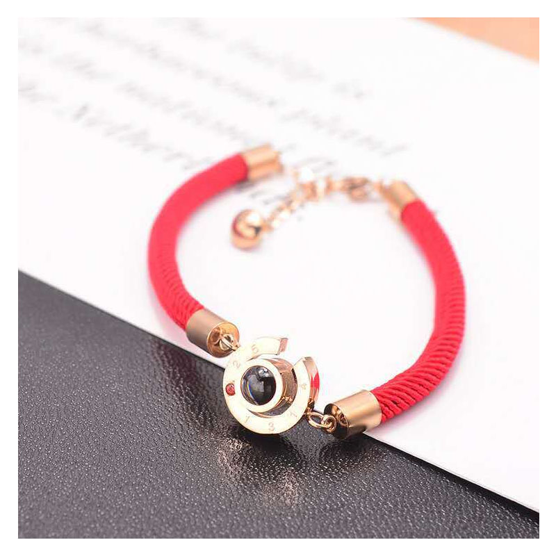 Modern Thick Twisted Rope with Pendant Bracelet for Casual Wear