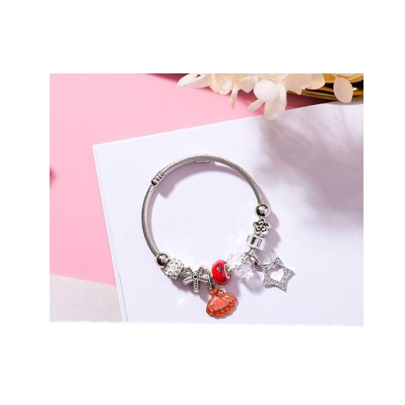Cute Nautical Charms Bracelet for Casual Wear