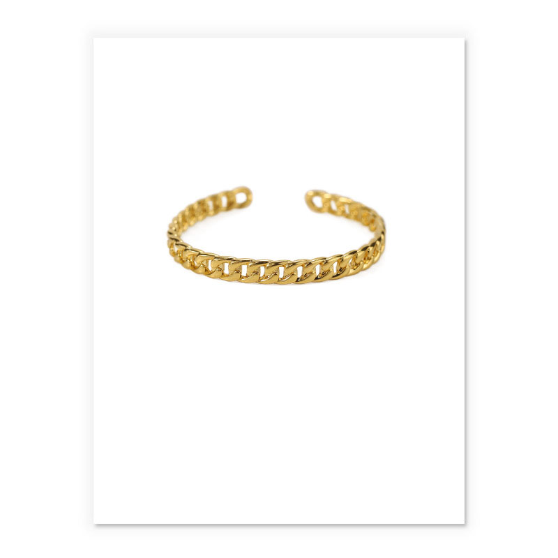 Metallic High-Gloss Chain Bracelet for Any Occasion