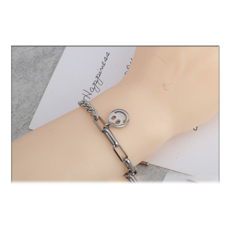 Retro Smiley Toggle Clasp Bracelet for Casual Wear