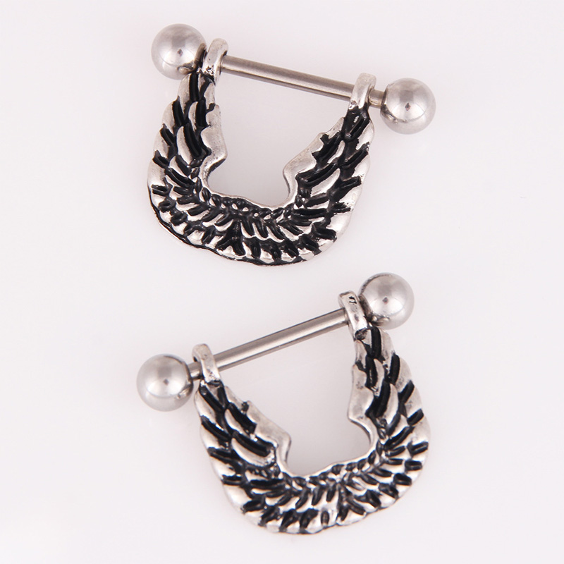 Aesthetic Angel Wings Stainless Steel Body Piercing for Everyday Fashion