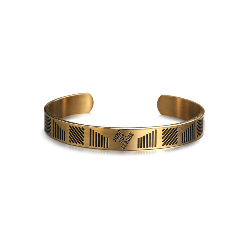 """""""Jump Out Clause"""" Open Bracelet for Hip-Hop Outfit"""