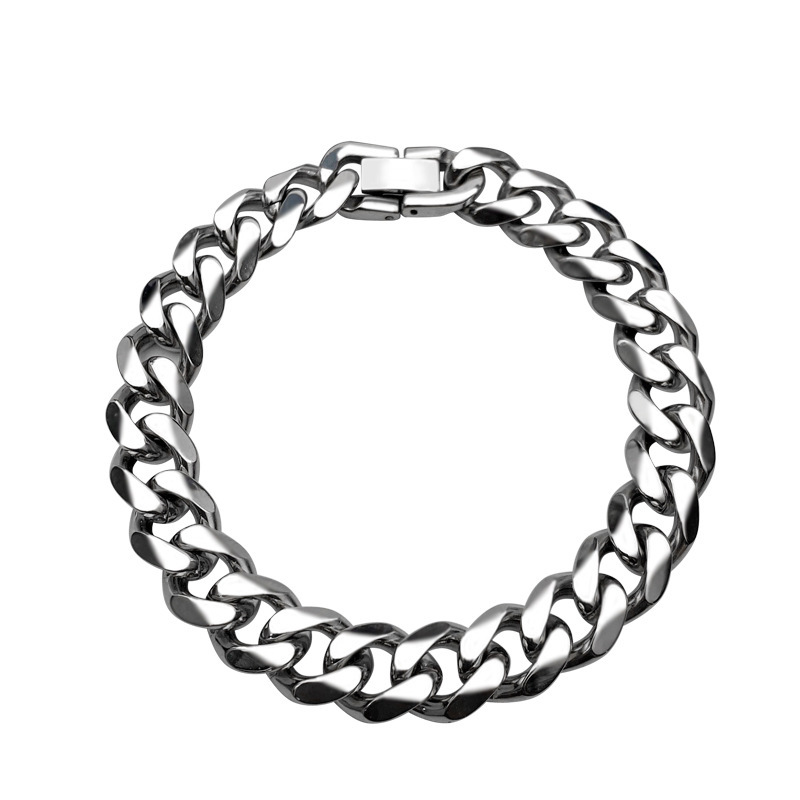 Thick Cuban Curb Chain Bracelet for Casual Wear