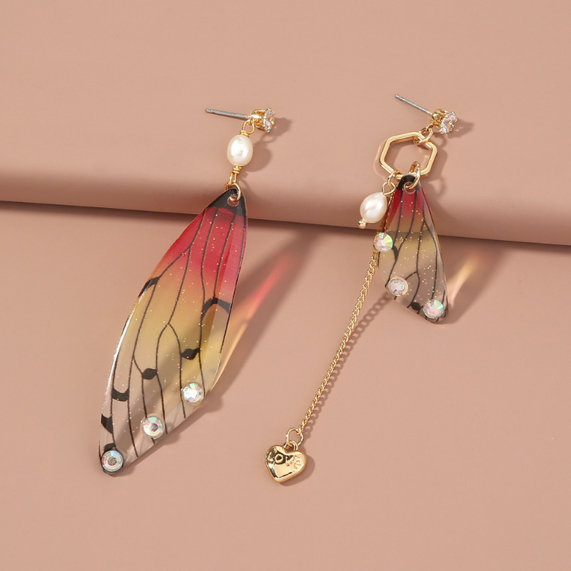 Mismatched Fairy Wings Earrings for Matching Trendy Outfits