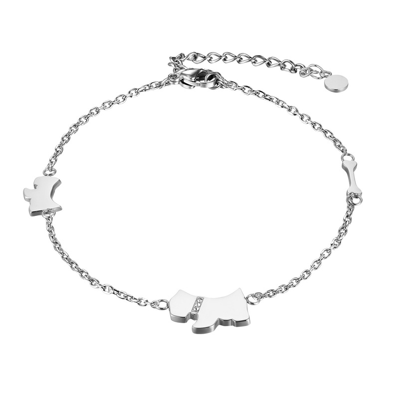 Minimalist Dog Charms Anklet for Pet Lovers