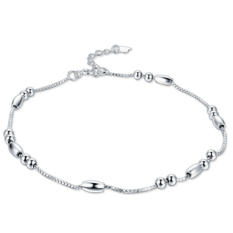 Sleek S925 Silver Anklet for Casual Wear