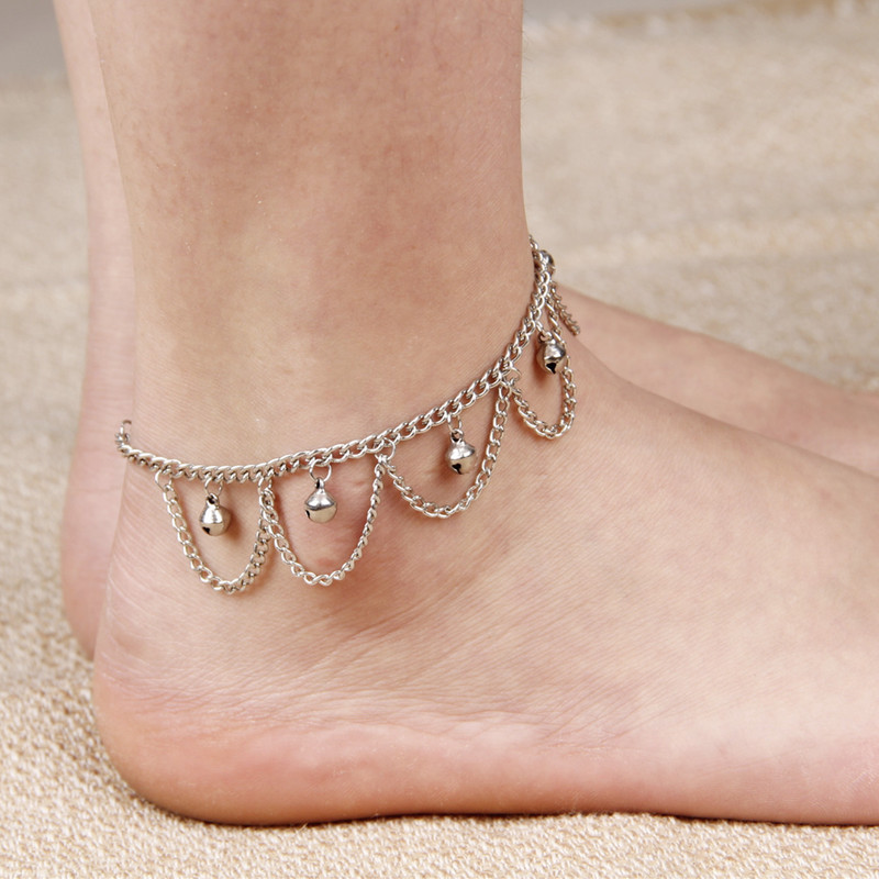 Creative Chain Tassel with Small Bells Anklet for Ladies