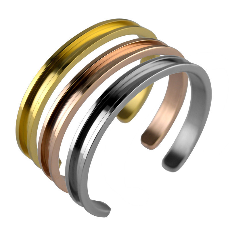 Modern Concave Cuff Bracelet for Holding Hair Ties