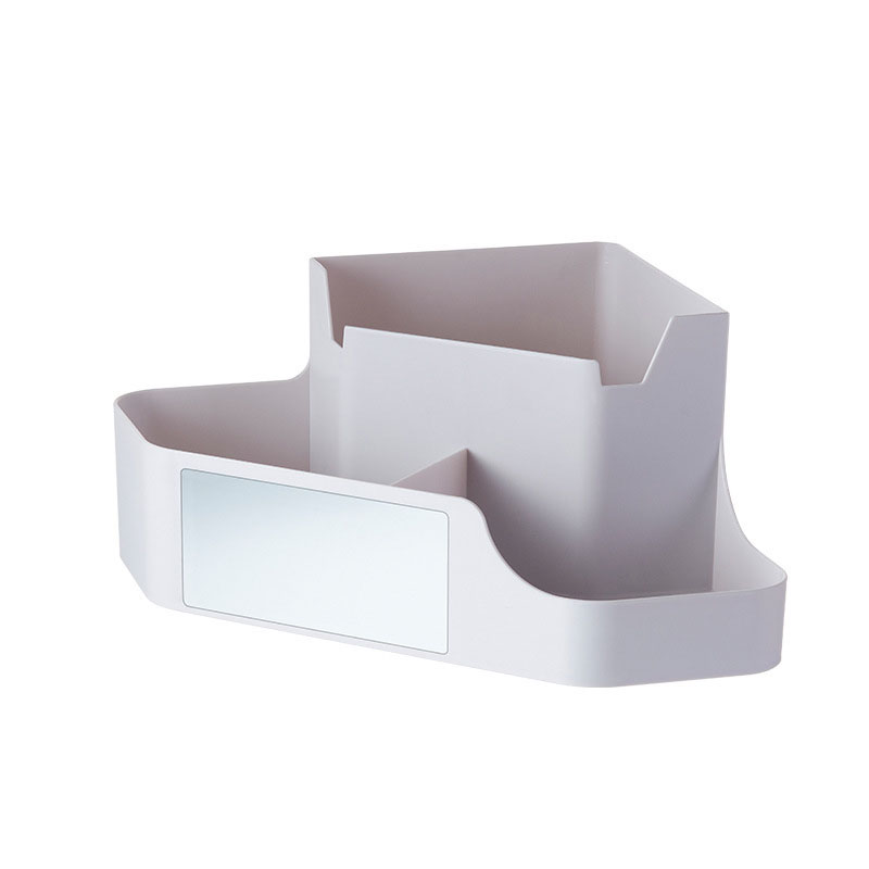Modern Multi-Division Organizer with Phone Holder for Cosmetics