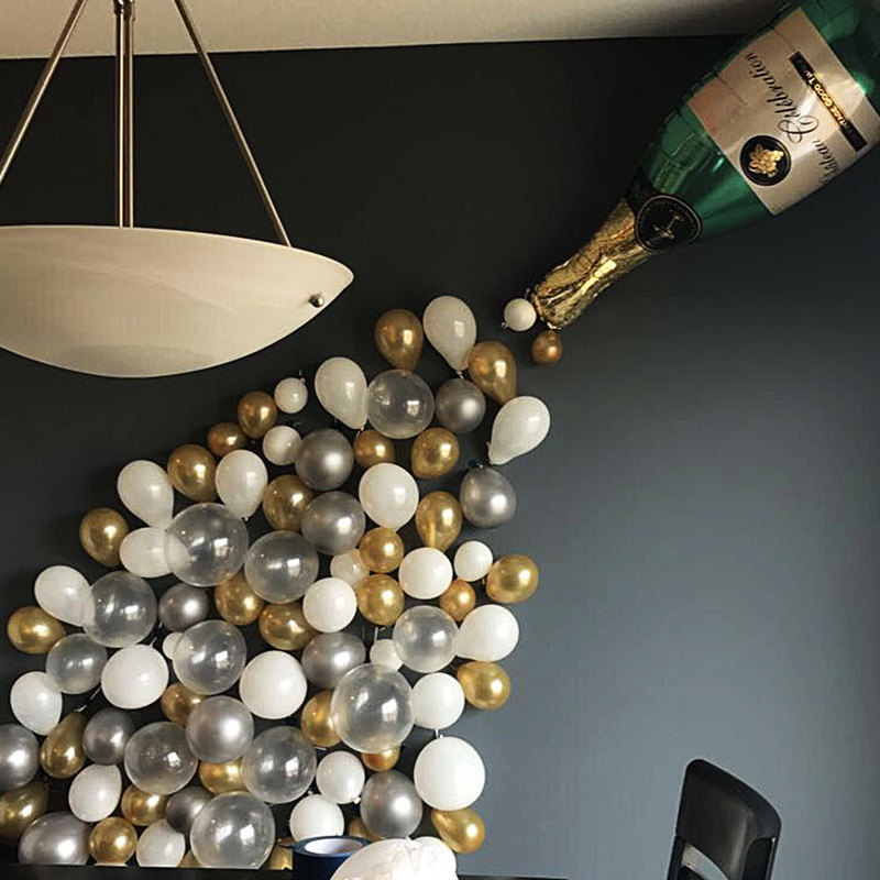 Fancy Champagne Bottle Balloon Set for Party