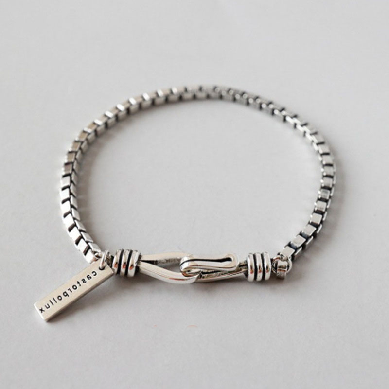 Metallic Box Chain Bracelet for Casual Wear