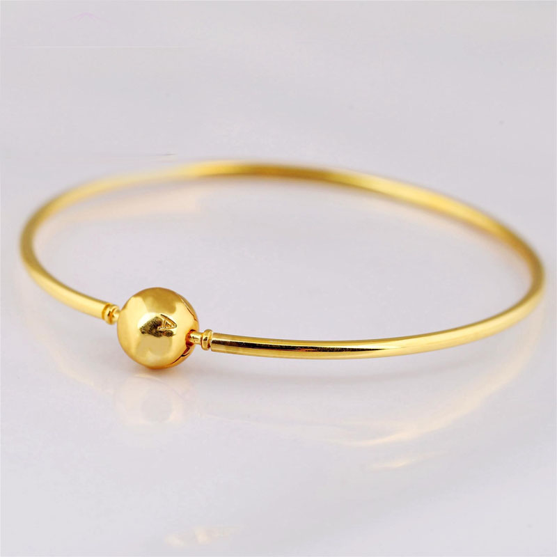 Minimalist Single Ball Gold-Plated Bracelet for Casual Attire