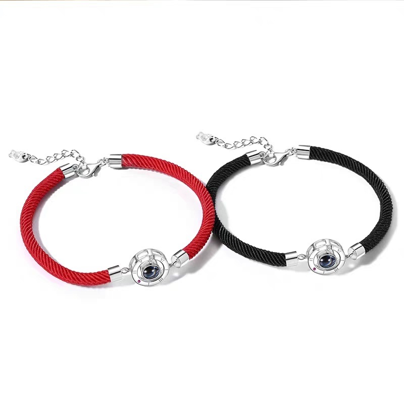 Trendy Message Projecting Bracelet for Couples