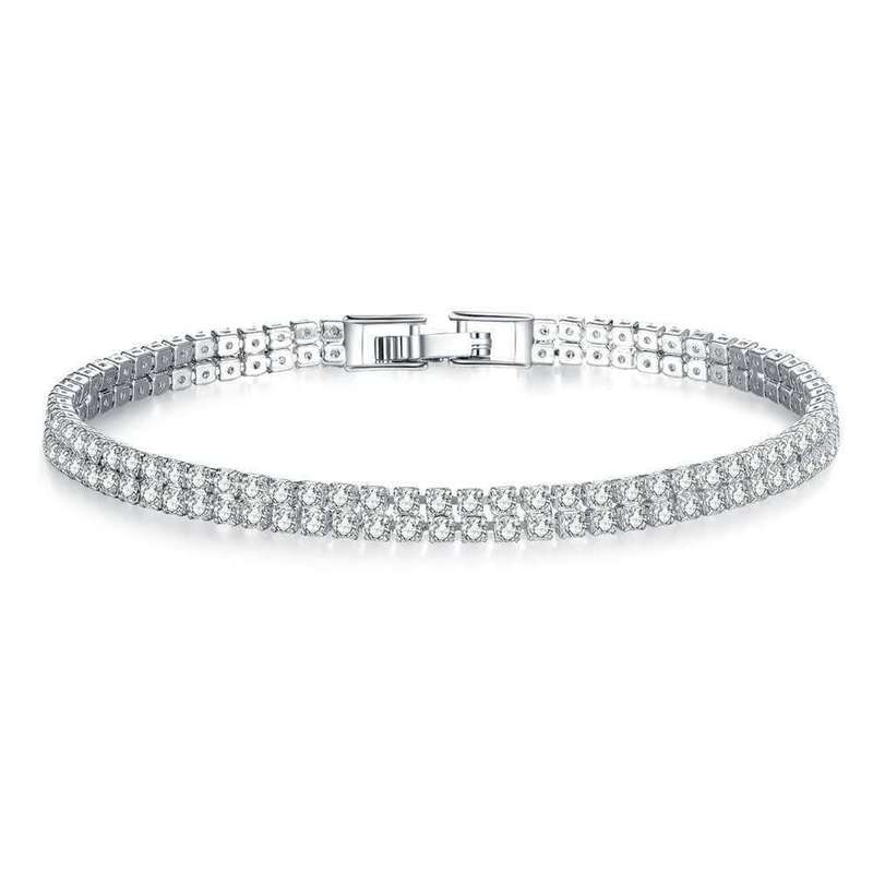 Faux Diamond Studded Bracelet for Formal Events